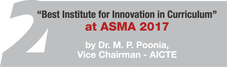 Best Institute for Innovation in Curriculun at ASMA 2017